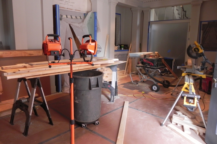 Carpentry in the narthex