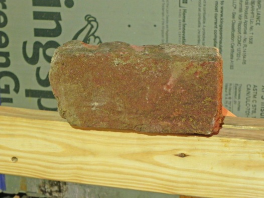 Brick from the original 1843 foundation.