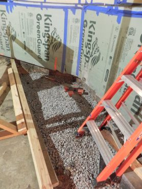 New footing ready for steel and slab