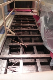 Joists at the rear of the nave.