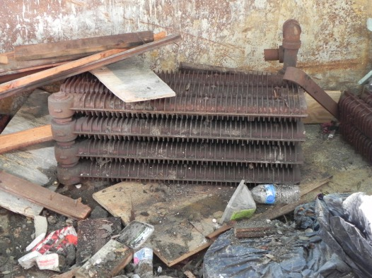 This radiator was located under the chancel floor behind the marble rail and used to heat the chancel.