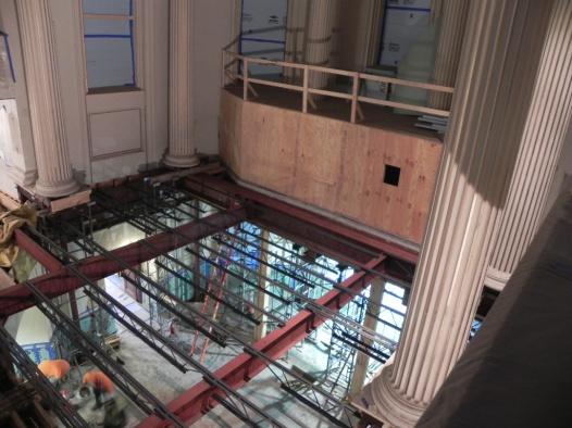 Steel frame has been installed