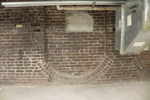 Interesting brick pattern eposed by removal of the air handlers