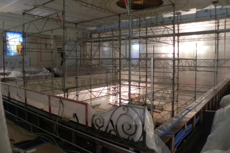 Scaffold in nave