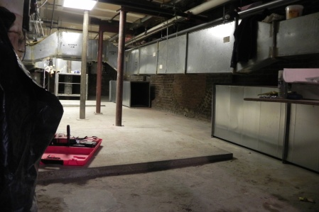 The space where the new air handler units will be located
