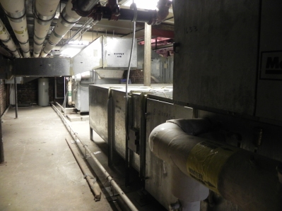 The old air handler units filled the space