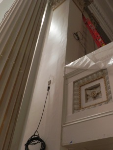New lighting may show up the imperfections in the original plaster work.
